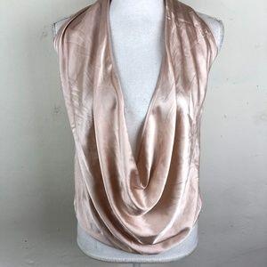 Ramy Brook Silk Halter Top Pink Convertible Sz XS